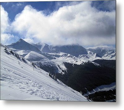 Metal Print featuring the photograph Skiing With A View by Fiona Kennard