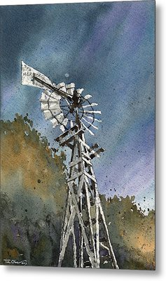 Skillet Ranch Mill Metal Print