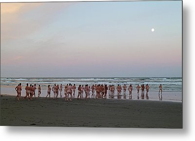 Skinny Dipping Down A Moon Beam Metal Print