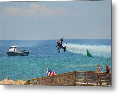 Metal Print featuring the photograph Skip Stewart Extreme Low-level Practice by Jeff at JSJ Photography