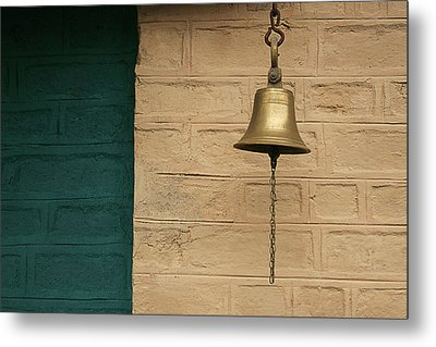 Metal Print featuring the photograph Skc 0005 A Doorbell by Sunil Kapadia