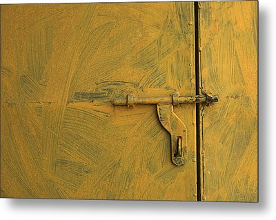Metal Print featuring the photograph Skc 0047 The Door Latch by Sunil Kapadia