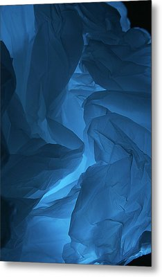 Metal Print featuring the photograph Skc 0247 A Mystery In Blue by Sunil Kapadia