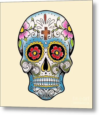 Skull 10 Metal Print by Mark Ashkenazi