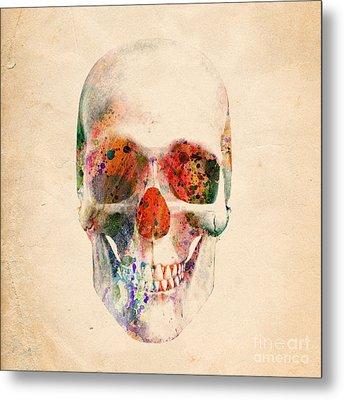 Skull 12 Metal Print by Mark Ashkenazi