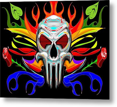 Skull Abstract Metal Print by Arpit Handa