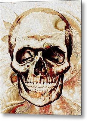 Skull Metal Print by Anastasiya Malakhova