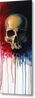 Skull Metal Print by David Kraig