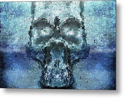 Skull In The Mirror Metal Print by Tommytechno Sweden