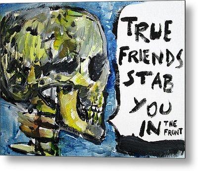 Skull Quoting Oscar Wilde.2 Metal Print by Fabrizio Cassetta