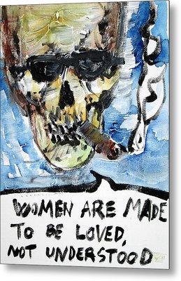 Skull Quoting Oscar Wilde.6 Metal Print by Fabrizio Cassetta