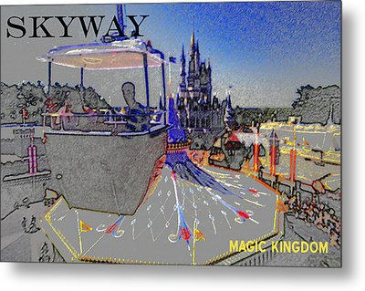Skway Magic Kingdom Metal Print by David Lee Thompson