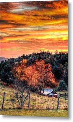 Sky Ablaze - Blue Ridge Sunrise I Metal Print by Dan Carmichael