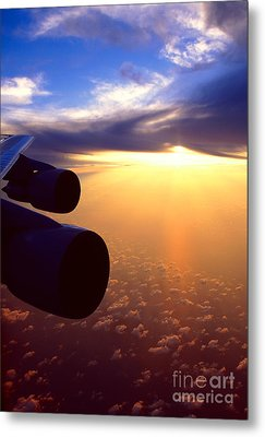 Metal Print featuring the photograph Sky Above 30000 Feet  by Aiolos Greek Collections