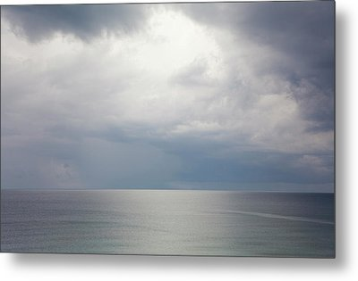 Sky And Cloudscape, Rhodes, Greece Metal Print by Peter Adams