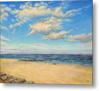 Metal Print featuring the painting Sky And Sand by Joe Bergholm