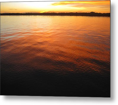 Sky And Sea Blend Metal Print by Laura Hiesinger