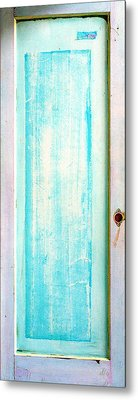 Sky Blue Entrance Entre Vous Metal Print by Asha Carolyn Young