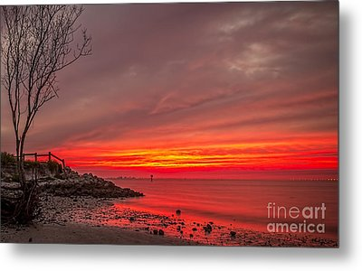 Sky Fire Metal Print by Marvin Spates