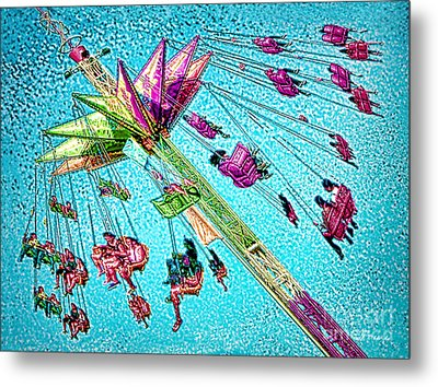 Metal Print featuring the digital art Sky Flyer by Jennie Breeze