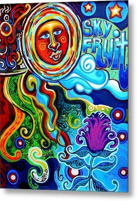 Sky Fruit Metal Print by Genevieve Esson
