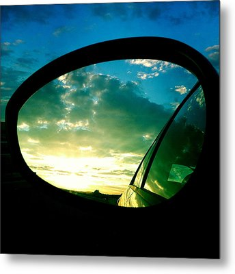 Sky In The Rear Mirror Metal Print by Matthias Hauser