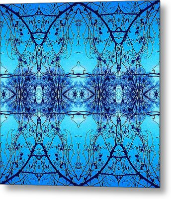 Metal Print featuring the photograph Sky Lace Abstract Photo by Marianne Dow
