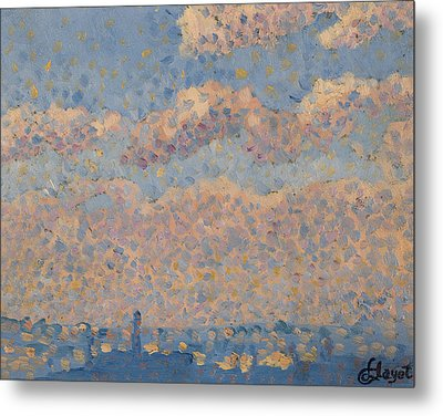 Sky Over The City Metal Print by Louis Hayet