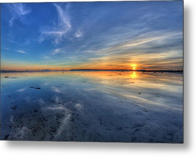 Sky Reflection In Boundary Bay Metal Print by Pierre Leclerc Photography