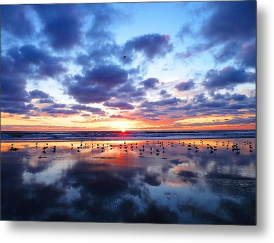 Sky Reflections Metal Print
