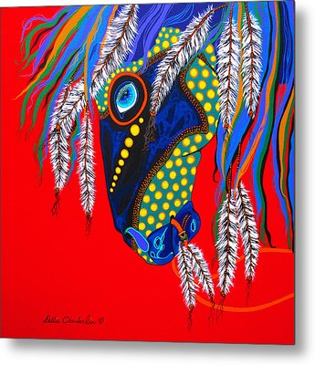 Metal Print featuring the painting Sky Spirit by Debbie Chamberlin