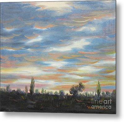 Metal Print featuring the painting Sky by Vesna Martinjak