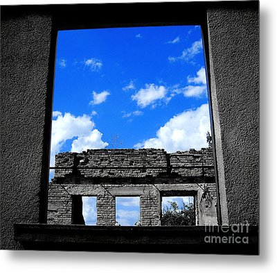 Sky Windows Metal Print by Nina Ficur Feenan