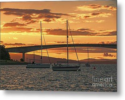 Skye Bridge Sunset Metal Print by Chris Thaxter