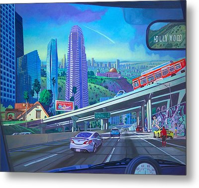 Skyfall Double Vision Metal Print by Art James West