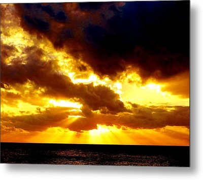 Metal Print featuring the photograph Skygold by Amar Sheow