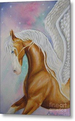 Skyhorse Aurora Metal Print by Louise Green