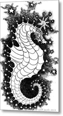 Metal Print featuring the digital art Skyhorse by Carol Jacobs