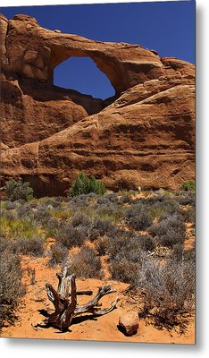 Skyline Arch - Arches National Park Metal Print by Mike McGlothlen