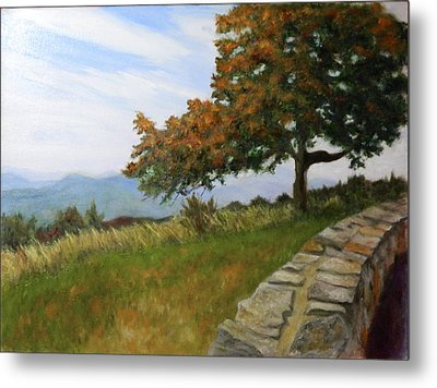 Metal Print featuring the painting Skyline Drive Virginia by Sandra Nardone