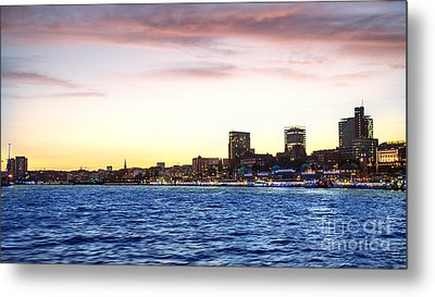 Skyline Hamburg Metal Print