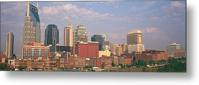 Skyline Nashville Tn Metal Print by Panoramic Images