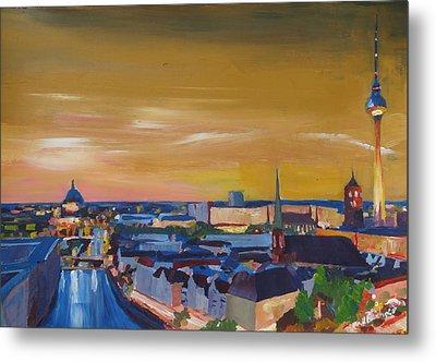 Skyline Of Berlin At Sunset Metal Print by M Bleichner