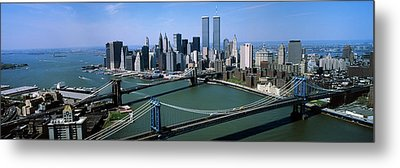 Skyline Showing World Trade Center Metal Print