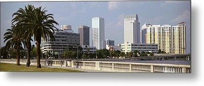 Skyline Tampa Fl Usa Metal Print by Panoramic Images