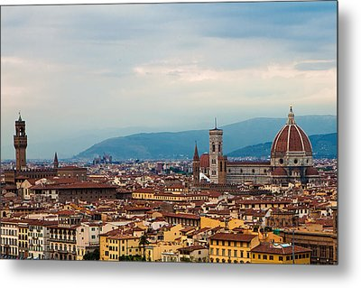 Skyline View Of Florence Italy Metal Print