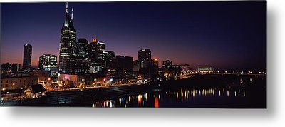 Skylines At Night Along Cumberland Metal Print by Panoramic Images