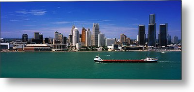 Skylines At The Waterfront, River Metal Print by Panoramic Images