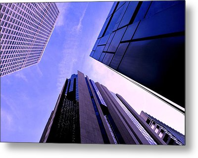 Skyscraper Angles Metal Print