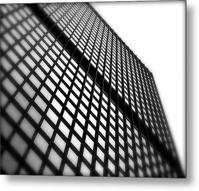 Skyscraper Facade Metal Print by Valentino Visentini